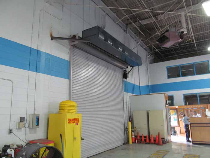 Industrial direct drive air curtain manufacturing rolling steel door