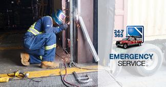 Overhead door track repair 24/7 emergency service