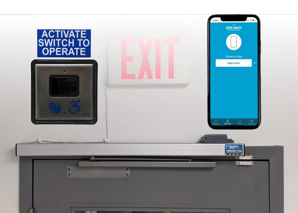 Slim Swing Door Operator with Wave-to-Open and App Controls